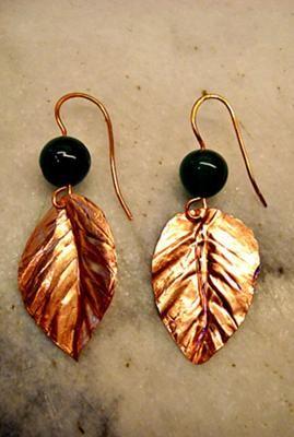 How to Make Copper Leaf Earrings