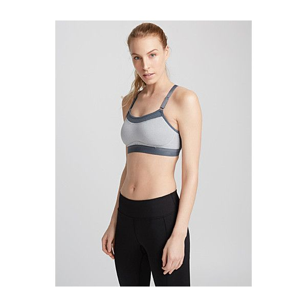 Champion Show-Off bra ($36) ❤ liked on Polyvore featuring activewear, sports bras, champion sportswear, adjustable sports bra, champion sports bras, racer back sports bra and strappy sports bras