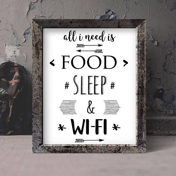 Wifi funny quotes for home, teen boy bedroom print, dorm room decor wall art quotes download, teen girl wall decor black and white printable