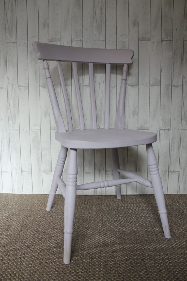 Upcycled hand painted chair in Autentico Lavender
