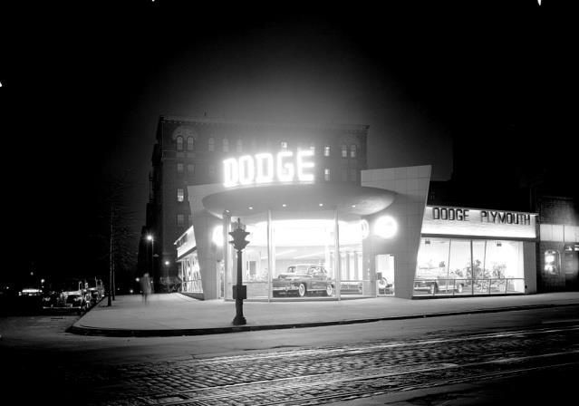 Dodge Dealership 1948 night