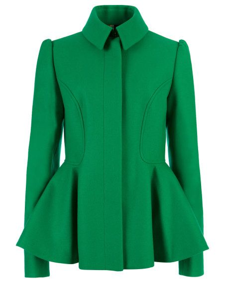 SOLLEL - Short peplum coat - Green | Womens | Ted Baker UK