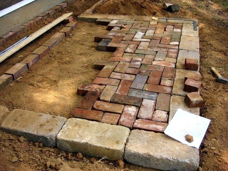 Herringbone brick patio google search interlocking paver for Pinterest patio pavers