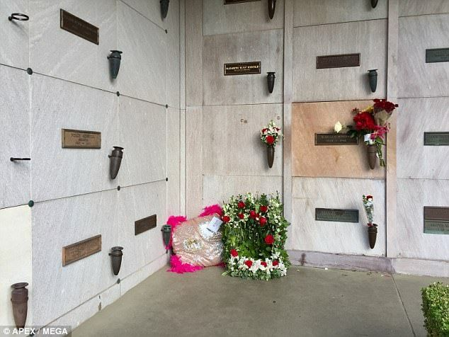 Hugh Hefner ~~ The Illinois native was buried at the cemetery near UCLA where Marilyn Monroe and Farrah Fawcett rest