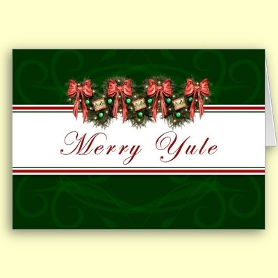 16 best pagan cards images on pinterest pagan greeting cards and merry yule garland red bows card merry christmas greetingsholiday m4hsunfo