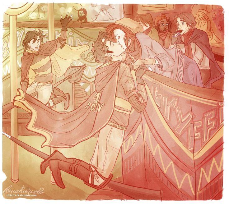 James Potter & Lily Potter (Evans) by viria13.deviantart.com