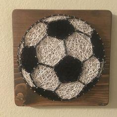 "Soccer ball sports string art - Order from KiwiStrings on Etsy ( <a href=""http://www.KiwiStrings.etsy.com"" rel=""nofollow"" target=""_blank"">www.KiwiStrings.e...</a> )"