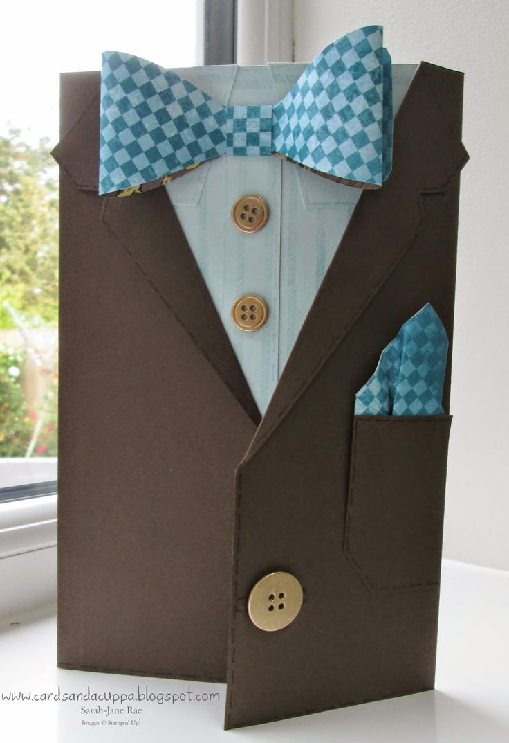 Sarah-Jane Rae cardsandacuppa: Stampin' Up! UK Order Online 24/7: Dr Who Bow Tie Card or Tuxedo Card Tutorial with Stampin' Up! Supplies.