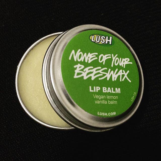 This lip balm is bomb. . . #lush #lushcosmetics #vegan #lemonvanilla #balm #noneofyourbeeswax #newyork #nyc #cosmetic #favorite #lipbalm #러쉬 #화장품 #립밤 #추천 #뉴욕 #비건