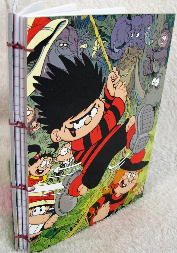 Hand-sewn Notebook / Journal featuring Dennis the Menace from the Beano Annual