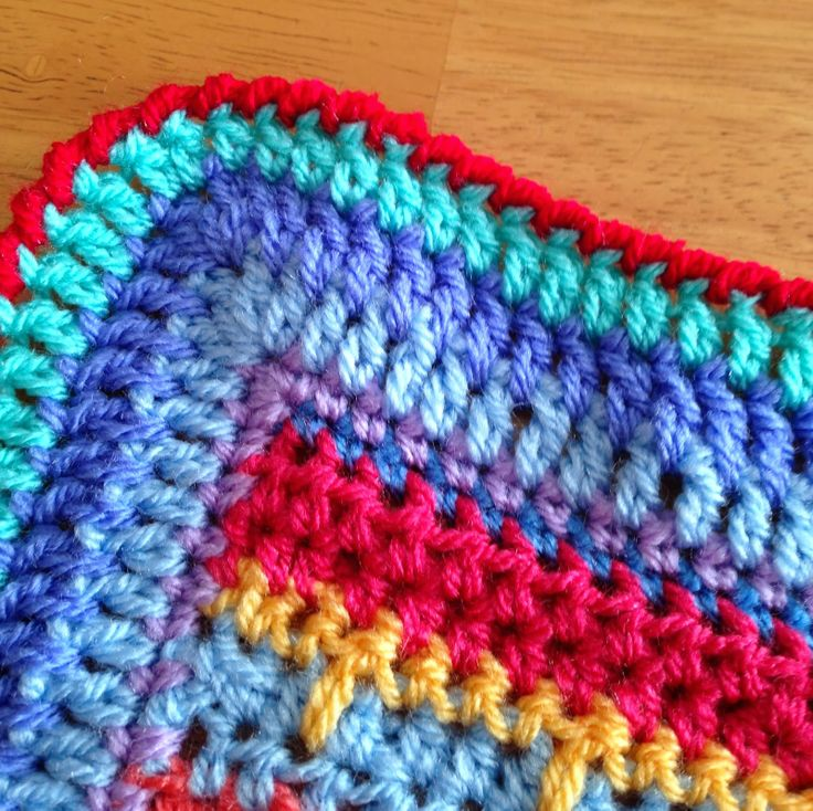 I Did A Reverse Single Crochet Or Crab Stitch To Edge This Blanket