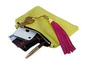 Leather Tassel Keychains