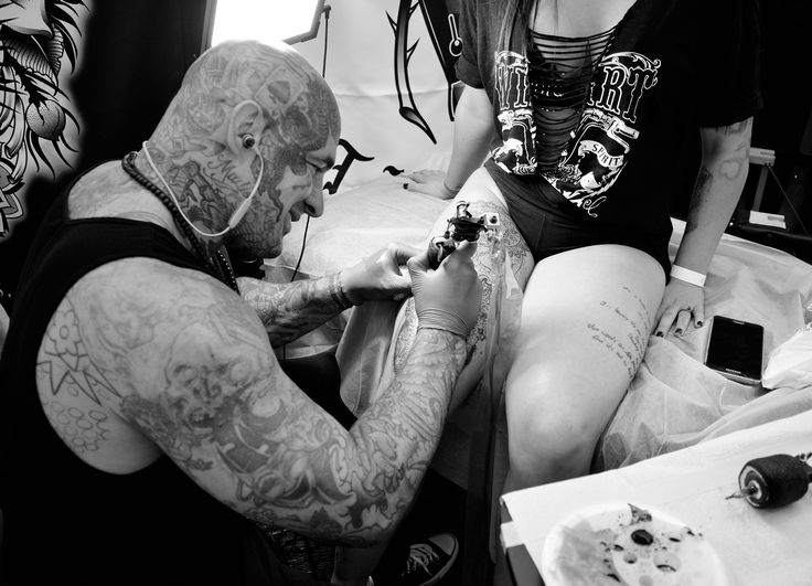 Inside the 1st Van Isle Tattoo Expo. http://illusion.scene360.com/art/111008/van-isle-tattoo-expo/