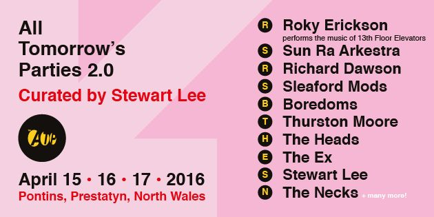 ATP Festival curated by Stewart Lee: New line-up additions