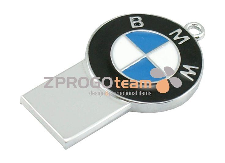 NEW: Promotional metal mini USB flash drive BMW.