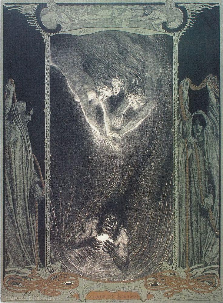 """hideback: """" Franz Stassen (German, 1869–1949) Der Ring Des Nibelungen: Das Rheingold (Wagner's Ring Cycle) """""""