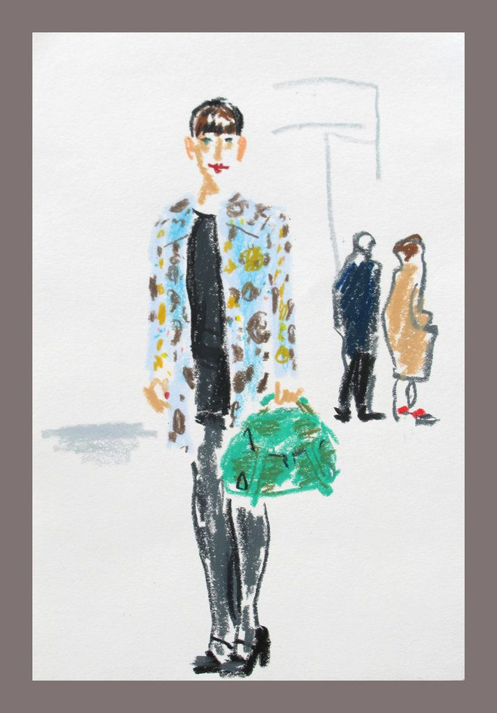 Quick sketches @LondonFashionWeek - nytimes.com