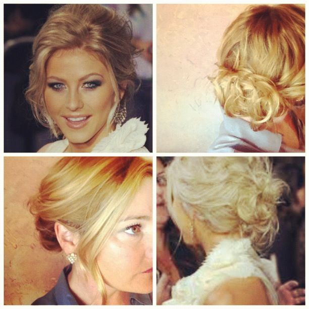 Steal Jessica Simpson S Pretty Half Up Wedding Hairstyle: Julianna Hough Messy Up Dos