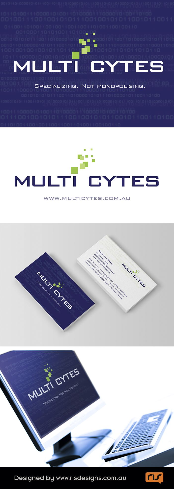 Multi Cytes is an Australian company producing quality websites and SEO services. Logo & stationary created by RIS Designs. www.risdesigns.com.au