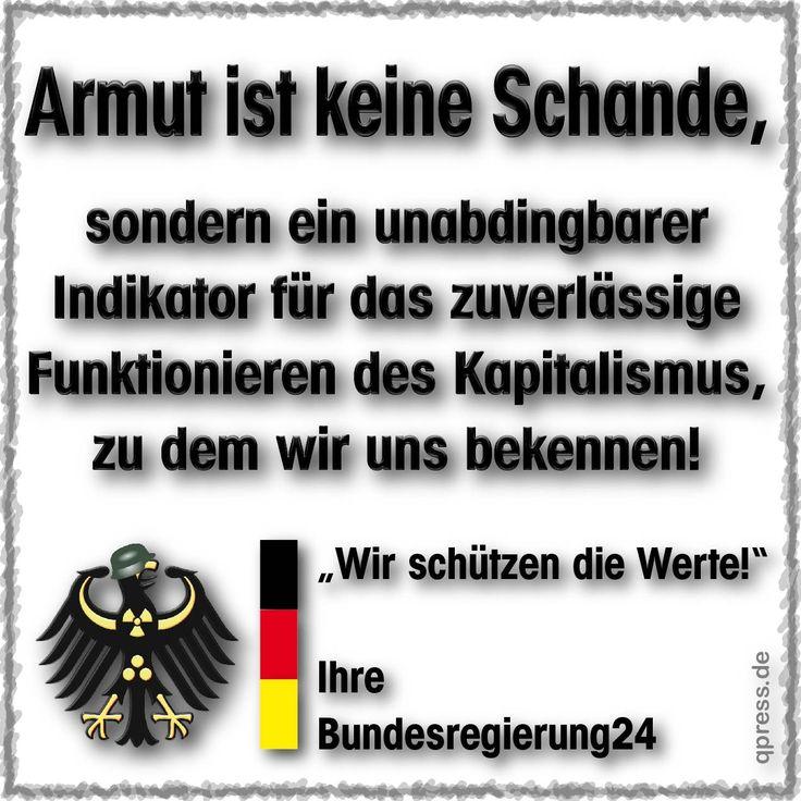 ❌❌❌ Wenn wir uns zur Leistungsgesellschaft und damit zum Kapitalismus bekennen, dann sicher auch zu seinen negativen Eigenschaften, die uns ja keineswegs verborgen bleiben. Das alles läuft zwar am Ende auf so eine Art Selbstzerstörung hinaus, aber immerhin haben wir es dann geschafft einer kleinen Elite über einen gewissen Zeitraum ein sehr schönes Leben zu bescheren. Viel christlicher kann man sich kaum verhalten? ❌❌❌ #Armut #Verelendung #Kapitalismus #Deutschland
