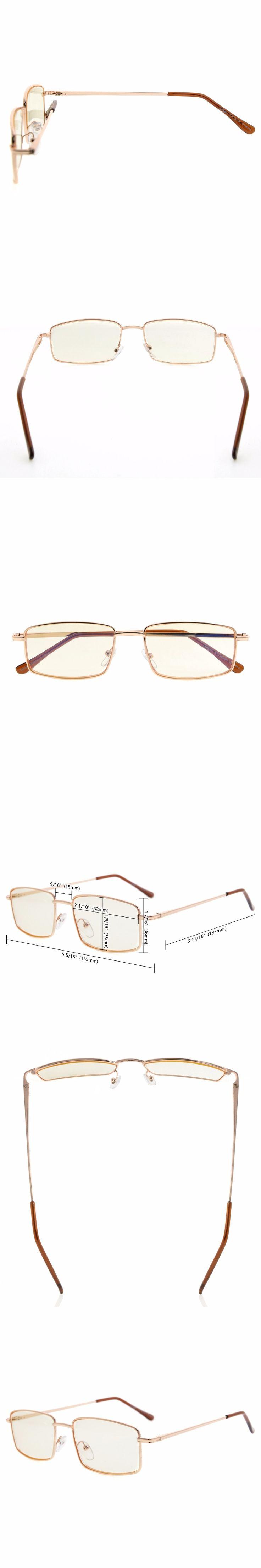 CG15023 Amber Tinted Lens Eyekepper Spring Hinges Anti-Blue Ray / Anti-Strain Computer Reading Glasses Computer Eyeglasses