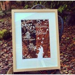 €80.00 'Classic' wedding floating frame #personalised