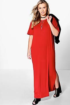 Plus Elisa T-Shirt Maxi Dress