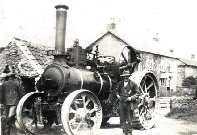 Bill Stephenson with his Traction Engine at Cropton Wood Yard