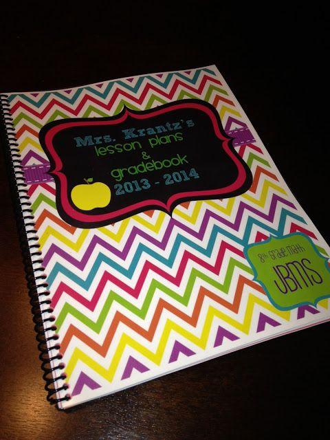 Math Book Cover Diy : Best teacher planner free ideas on pinterest