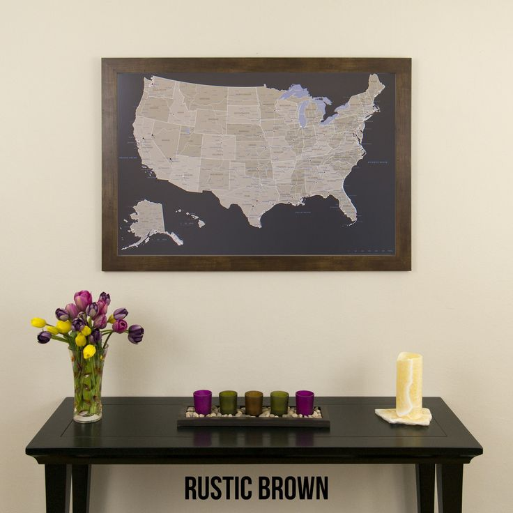 Best Our Products Push Pin Travel Maps Images On Pinterest - Us brown map with states