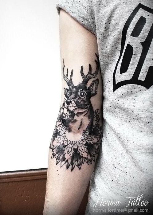 cerf tattoo / Deer tattoo / mandala By Norma Tattoo norma.fortime@gmail.com