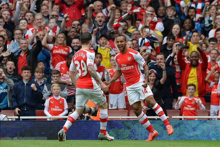 Theo Walcott has now scored 50 goals in his Premier League career, and that's his 3rd hat-trick. #AFC