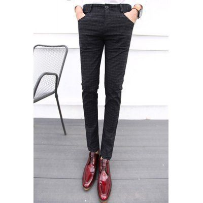 Style: Casual  Material: Cotton, Polyester  Fit Type: Regular  Waist Type: Mid  Closure Type: Zipper Fly  Front Style: Flat  With Belt: No  Weight: 1.05KG  Pant Length: Long Pants  Pant Style: Straight  Package Contents: 1 x Pants  SizeWaistHipLength 287288102 297590102 30...