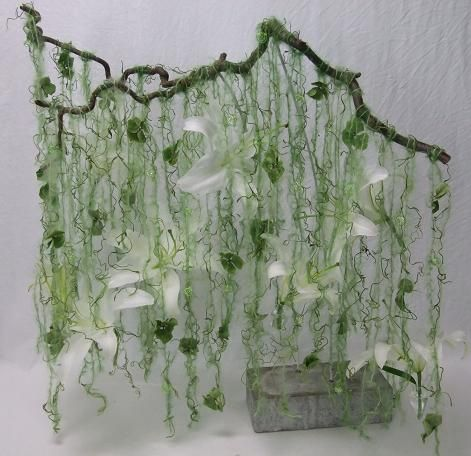 """Would be lovely to do 'a child-made version' of this - 'Stringing in the Rain' by Christine de Beer Floral Lifestyle Design ("""",)"""