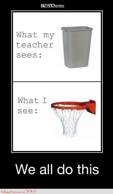 Basketball Hoop or Trashcan? - http://weheartchicagobulls.com/nba-funny-meme/basketball-hoop-or-trashcan