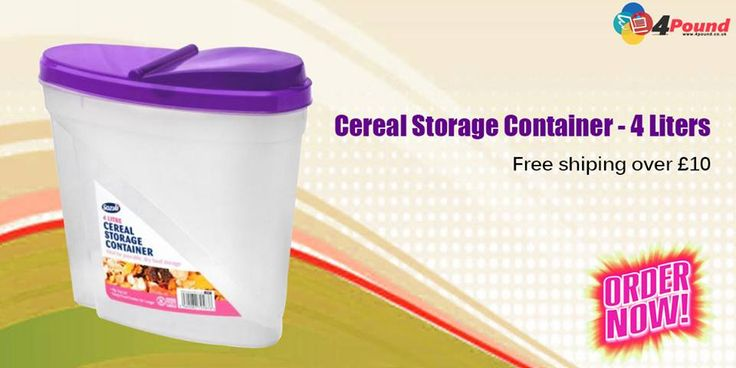 Buy any Product in #4pound store .Get 50% Discount Order Now !!! Order Now: http://www.4pound.co.uk/4l-cereal-storage-container