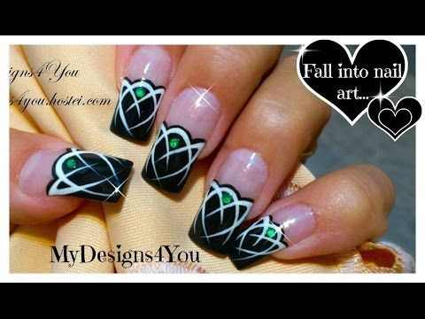 Celtic Nail Art, Mysterious Emerald Gem · How To Paint A Nail Painting · Beauty on Cut Out + Keep