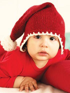 Nissehue med klapper til baby