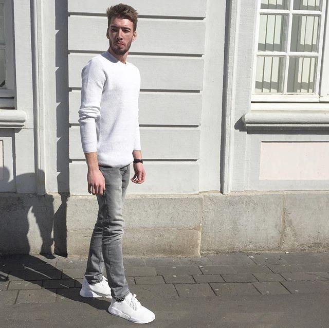 WHITE .// #OOTD u26aaufe0f.[] #adidasnmd #NMD #Boostvibes #outfitplace #streetwear #adiseason #boostin ...
