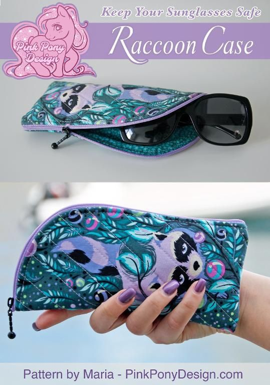 Free Sewing Pattern: Raccoon Case – A Sunglasses Zipper Case