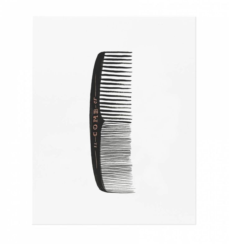 Comb Illustrated Art Print - Rifle Paper Co - for Chuck's bathroom