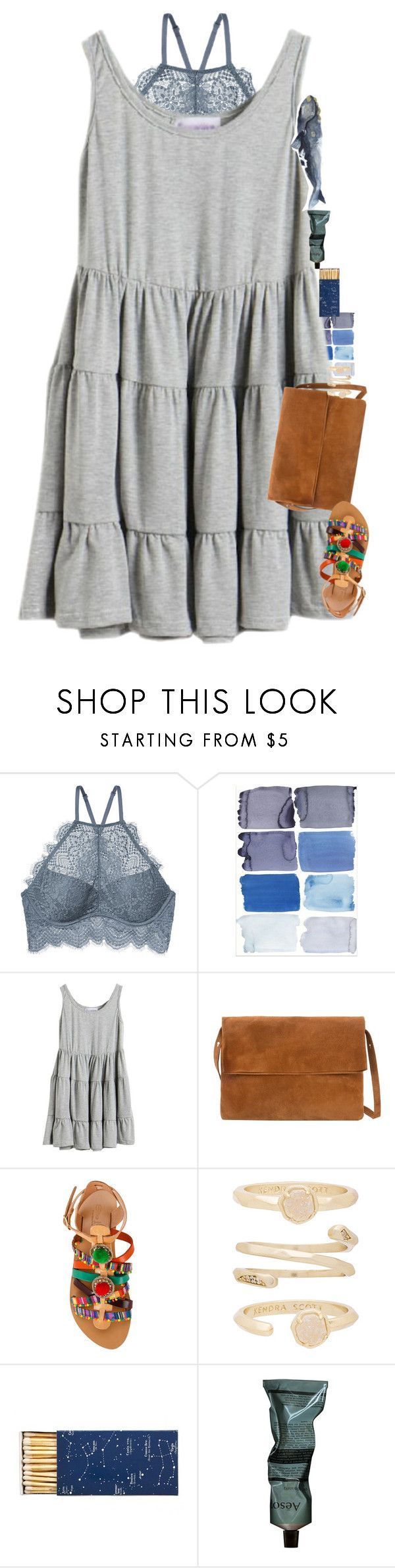 """My cat is licking my salad bowl"" by mac-moses ❤ liked on Polyvore featuring MANGO, Elina Linardaki, Kendra Scott, Jayson Home and Aesop"