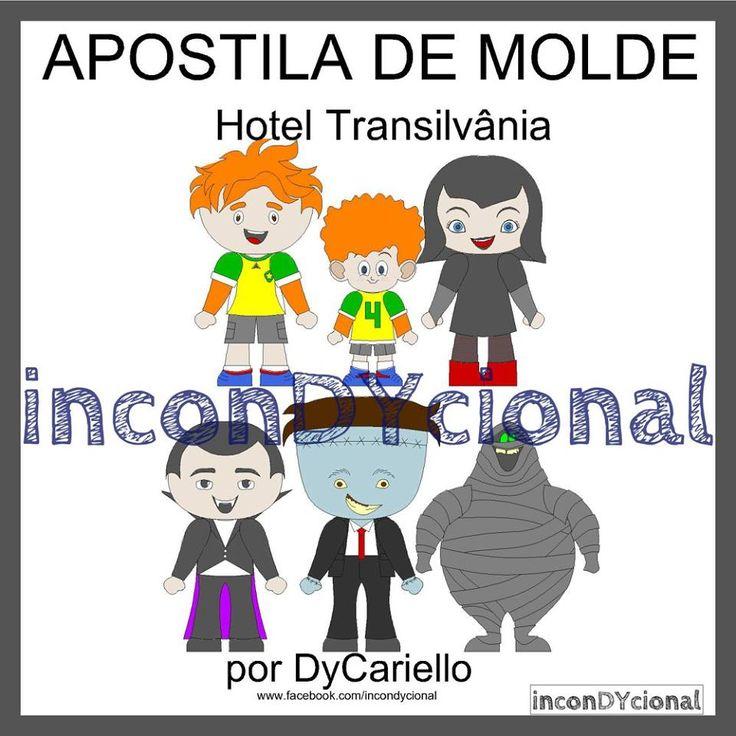 >> Apostila digital de moldes do Hotel Transilvânia [conforme imagem], para ser feito em feltro/tecido.  >> Vem com os personagens que estão na imagem! Nesta mesma posição!  http://incondycional.iluria.com/pd-456ff3-apostila-digital-de-moldes-do-hotel-transilvania.html?ct&p=1&s=1