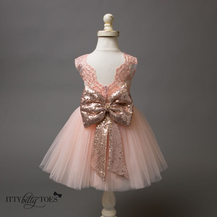 Princess Aisha Dress (Rose Gold) - Itty Bitty Toes  - 1