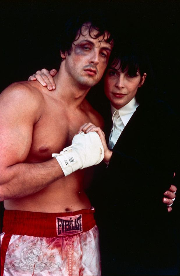 Sylvester Stallone and Talia Shire | ... Sylvester Stallone) and Adrian (Talia Shire) in Rocky (1976). 5 of 20
