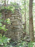 The Iron Furnaces of Botetourt County, Virginia — Etna~Etna Furnace, East Surface 2006