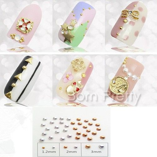 I find an excellent product on @BornPrettyStore, 100Pcs/set Gold Silver Round Ball Flat Nail S... at $3.73. http://www.bornprettystore.com/-p-16680.html