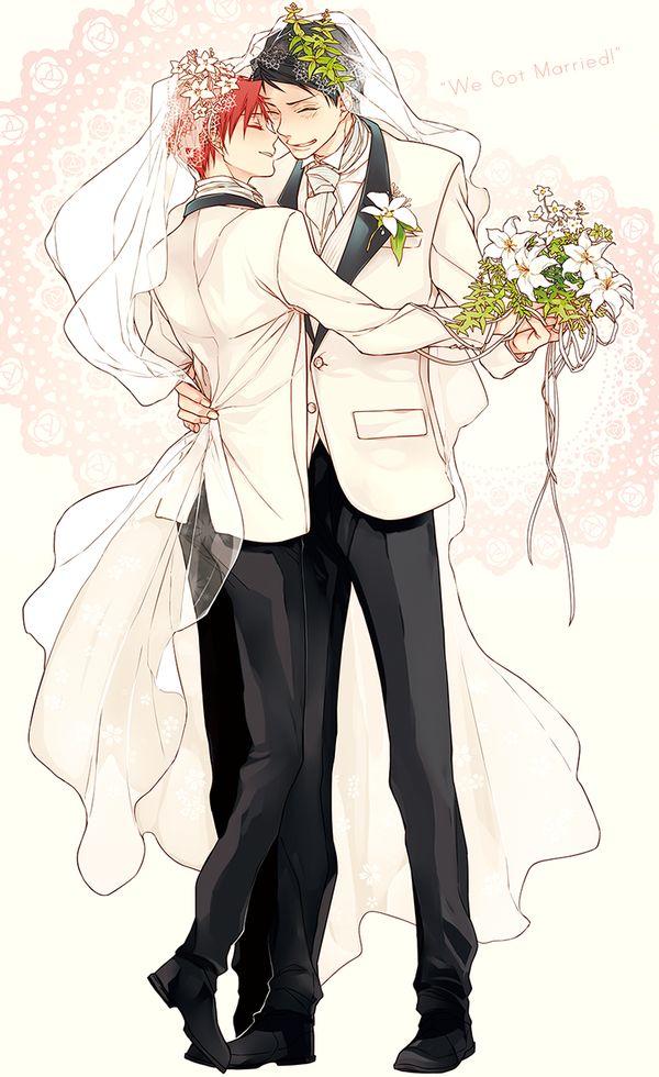 """そこが大事@ en Twitter: """"韓国の虹赤オンリーイベントの等身大タペストリー第二弾、【ウェディングスーツ虹赤】を描かせていただきました。イベントが終了しましたので公開! 虹赤結婚おめでとー!!!末永くお幸せに!!!! (※オリジナルから少し色調整をしています) http://t.co/YjjyPlCot1"""""""