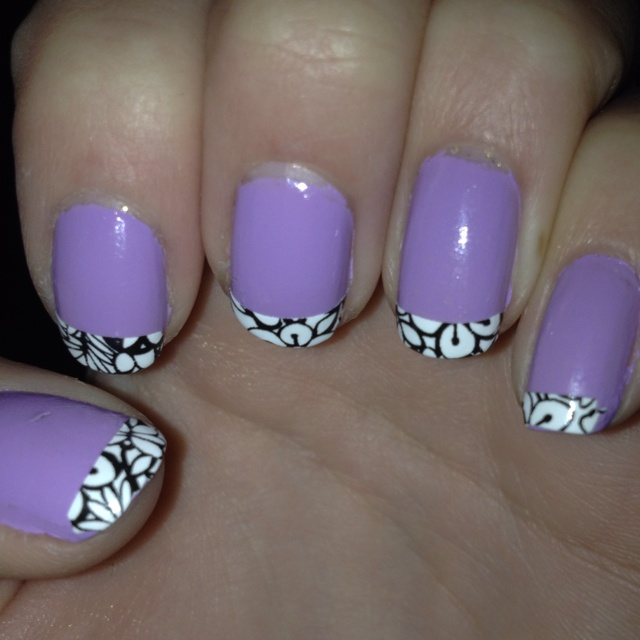 My lilac nails with Sally Hansen stickers