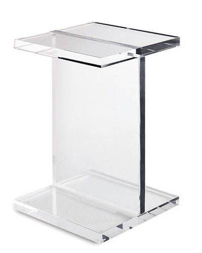 lucite acrylic side table
